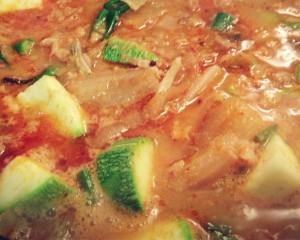 [저녁식사 – 호박전, 고추전, 굴, 청국장] Korean-style Dinner Feast